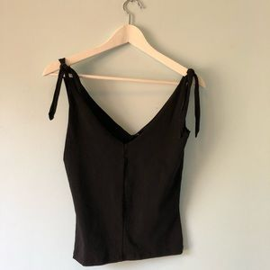 French connection top with tie sleeves.